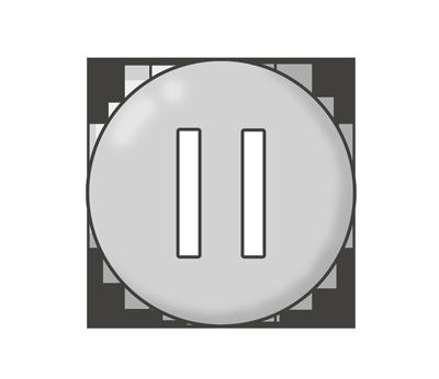 一時停止ボタンのイラスト