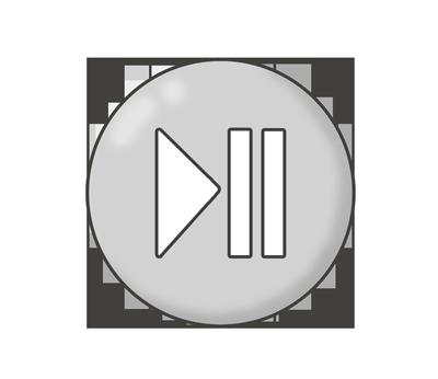 再生一時停止ボタンのイラスト