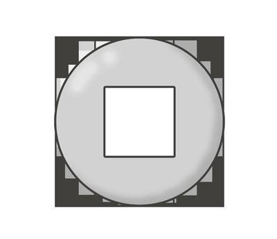 停止ボタンのイラスト