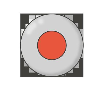 録音・録画ボタン(REC)のイラスト