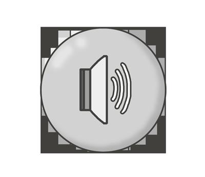 音量・ボリュームボタン(大)のイラスト