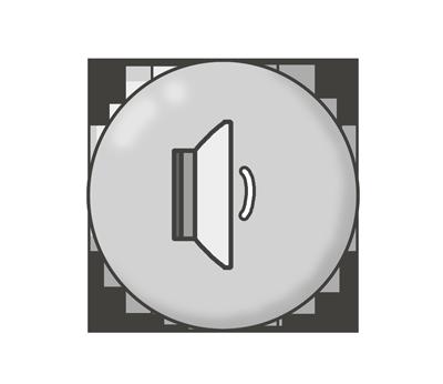 音量・ボリューム(小)ボタンのイラスト