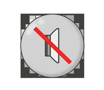 消音・ミュートボタンのイラスト