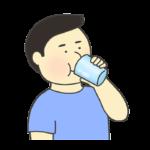飲み物を飲む男性のイラスト