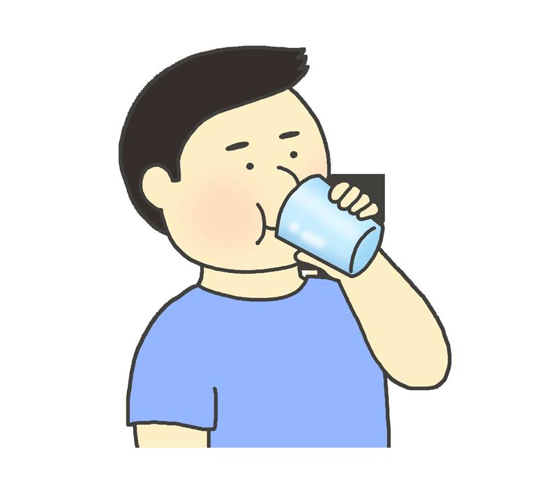 飲み物(ドリンク) を飲む男性のイラスト