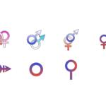 性別記号(LGBT)のイラスト