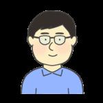 眼鏡を掛けている男性のイラスト
