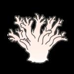 サンゴの白化現象のイラスト