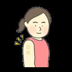 BCG/ハンコ注射をした女性のイラスト