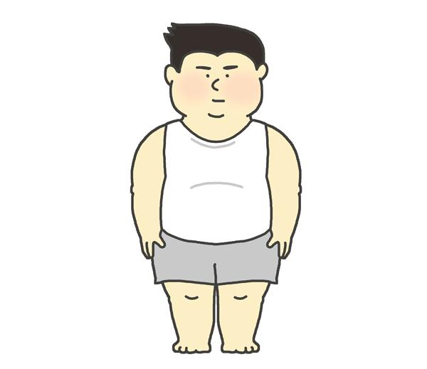 太っている男性のイラスト
