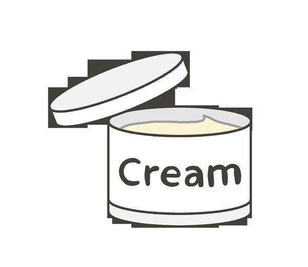 クリームのイラスト