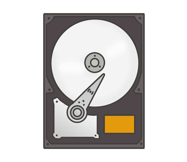 ハードディスクドライブのイラスト