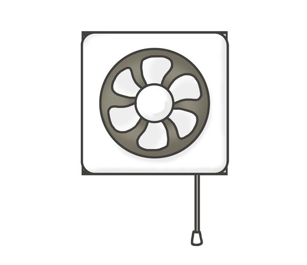 換気扇のイラスト