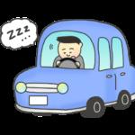 居眠り運転のイラスト