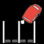 バック駐車のイラスト(上から)