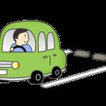 バック駐車のイラスト(横からの構図)