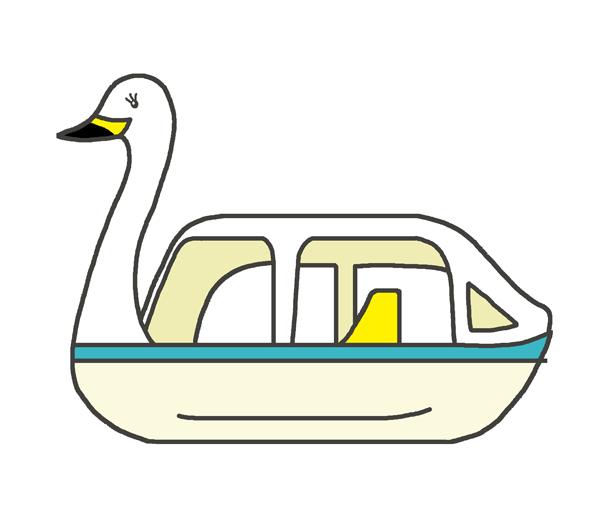 スワンボートのイラスト