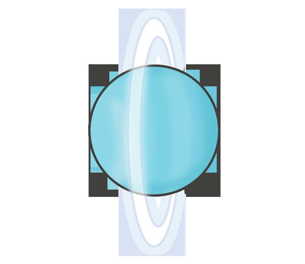 天王星のイラスト