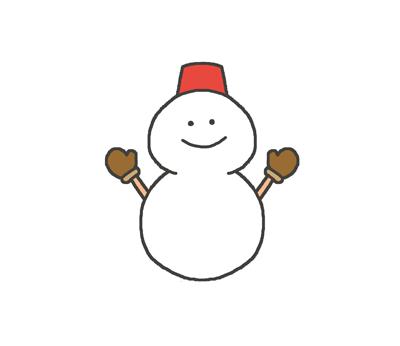 雪マークのイラスト