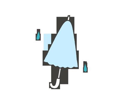 小雨マークのイラスト