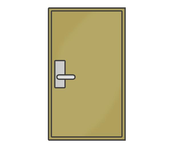 部屋の扉のイラスト
