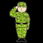 自衛隊員のイラスト(男性)