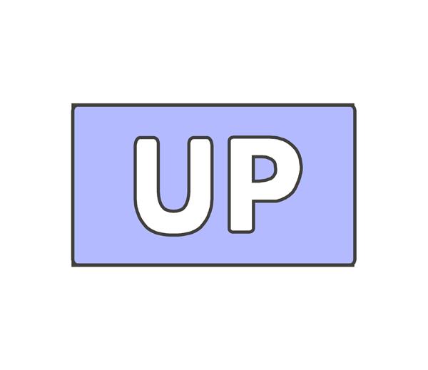 UPの文字イラスト