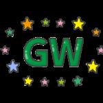 「GW」の文字イラスト