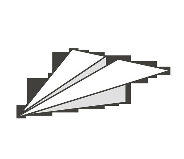 紙飛行機のイラスト