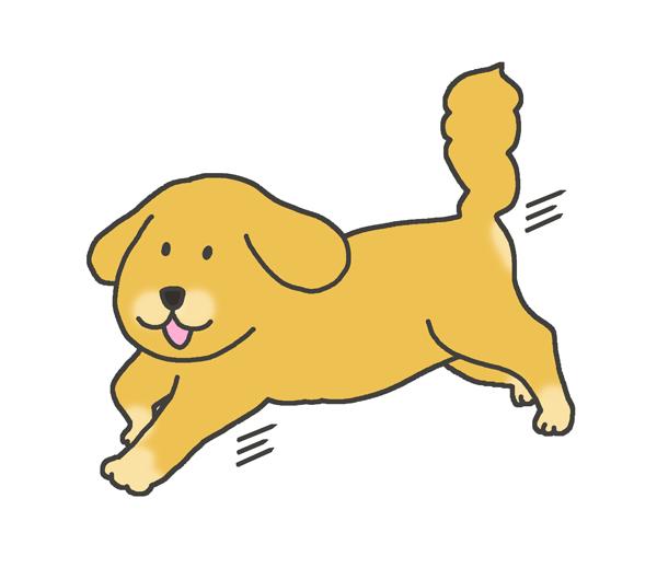 走る犬のイラスト