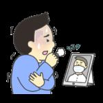 オンライン診療のイラスト