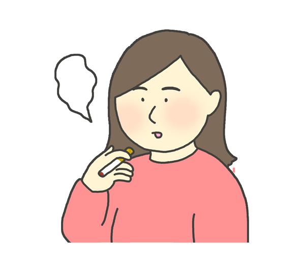 喫煙する女性のイラスト