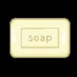 固形石鹸のイラスト