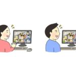 オンライン会議のイラスト(笑顔)