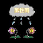 酸性雨のイラスト