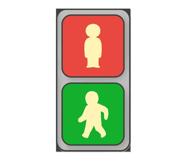 歩道信号機のイラスト