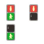歩道の信号機のイラスト