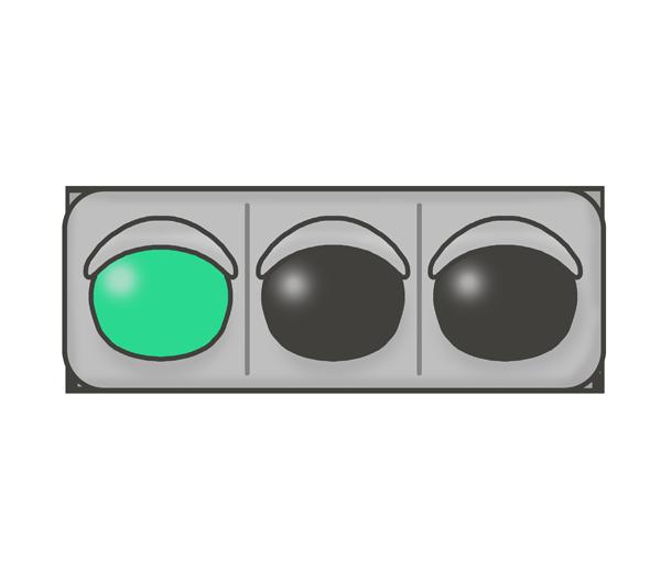 信号機のイラスト(青信号)