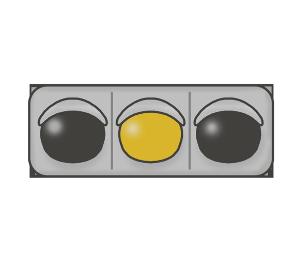信号機のイラスト(黄色信号)