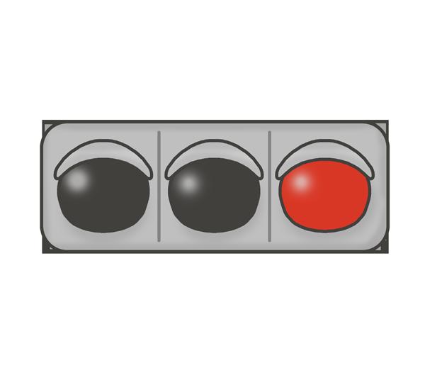 信号機のイラスト(赤信号)
