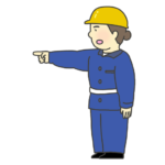 指差し確認をする女性のイラスト