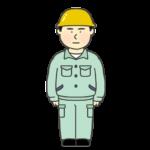 作業着を着ている男性のイラスト