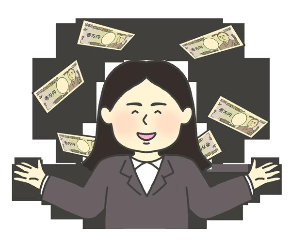 お金持ちの女性のイラスト