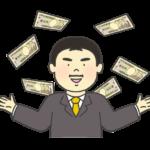 お金持ちの男性のイラスト