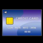 クレジットカードの表面のイラスト