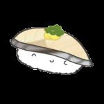 鯖のお寿司のイラスト