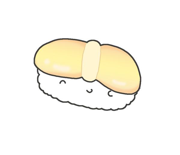ホタテのお寿司のイラスト