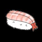 甘エビのお寿司のイラスト