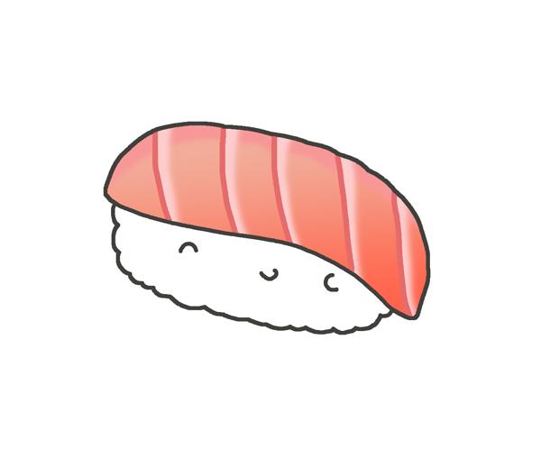 お寿司の大トロのイラスト