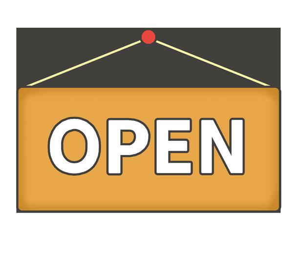 「OPEN」の文字イラスト